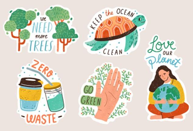 cartoon sticker design