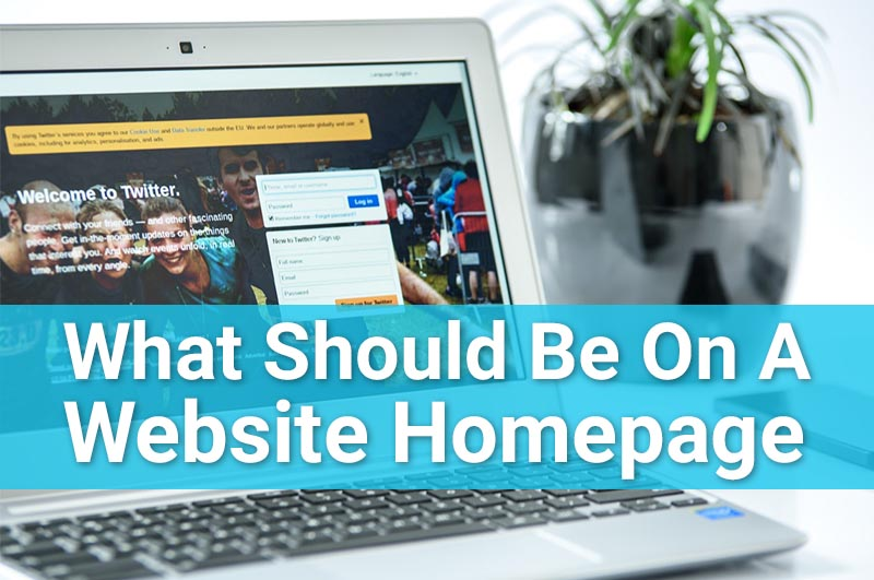 what should be on a website homepage