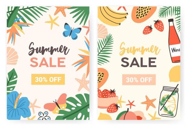 flyer design malaysia summer sale