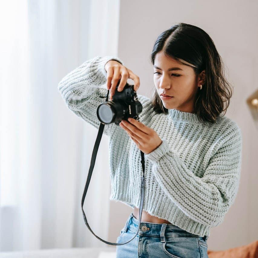 taking photo to edit