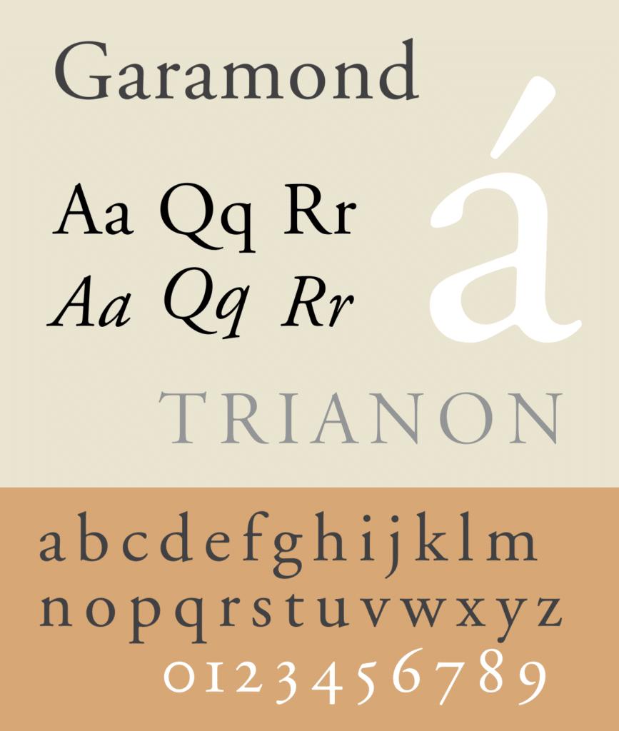 garamond font for resume