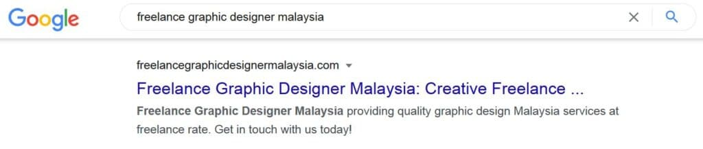 make your business searchable on google with our web design malaysia service