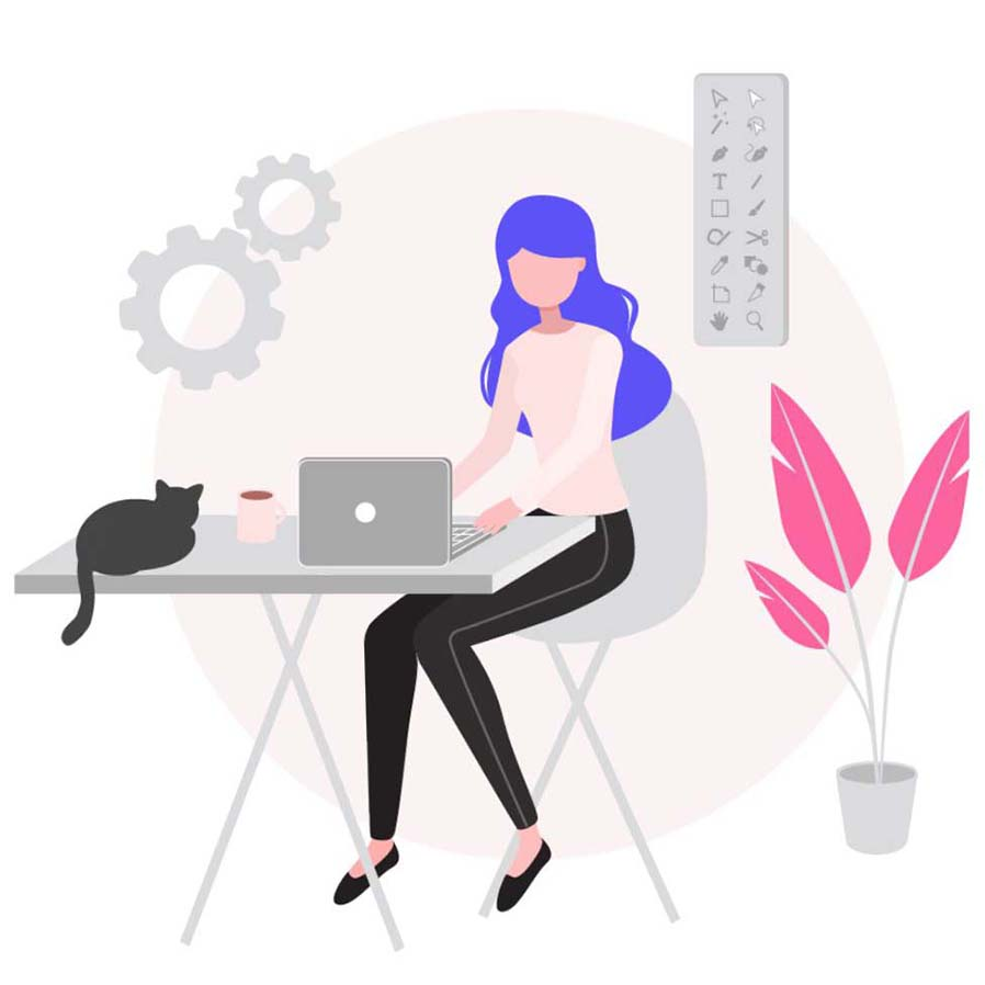 malaysia graphic designer working from home